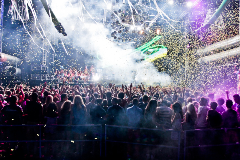 Ibiza party scene from festivals in October