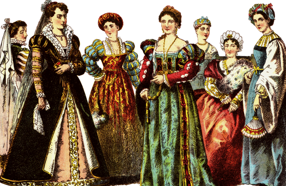 Renaissance clothing from fashion in Italy