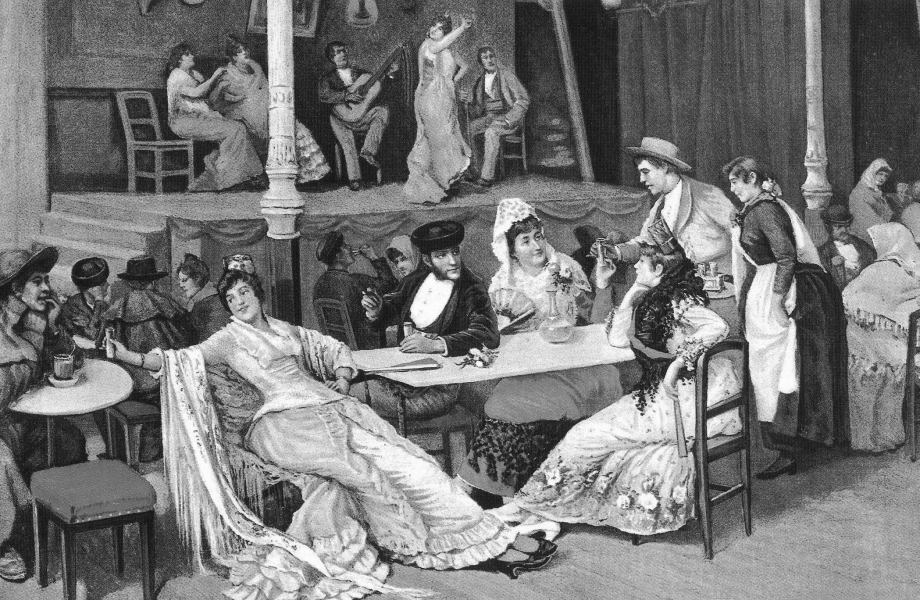 Alarcón_-_Un_café_cantante_-_ca._1850