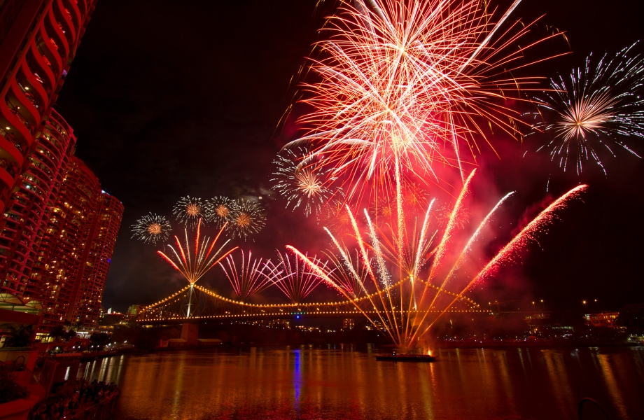 The conclusive Sunsuper Riverfire event at the Brisbane Festival
