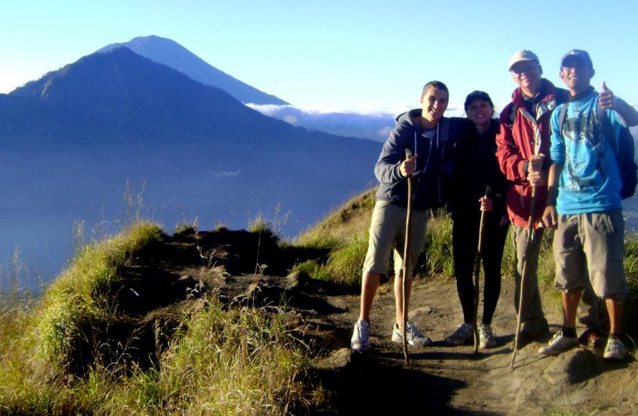 Climbing Mt. Batur with your wolfpack