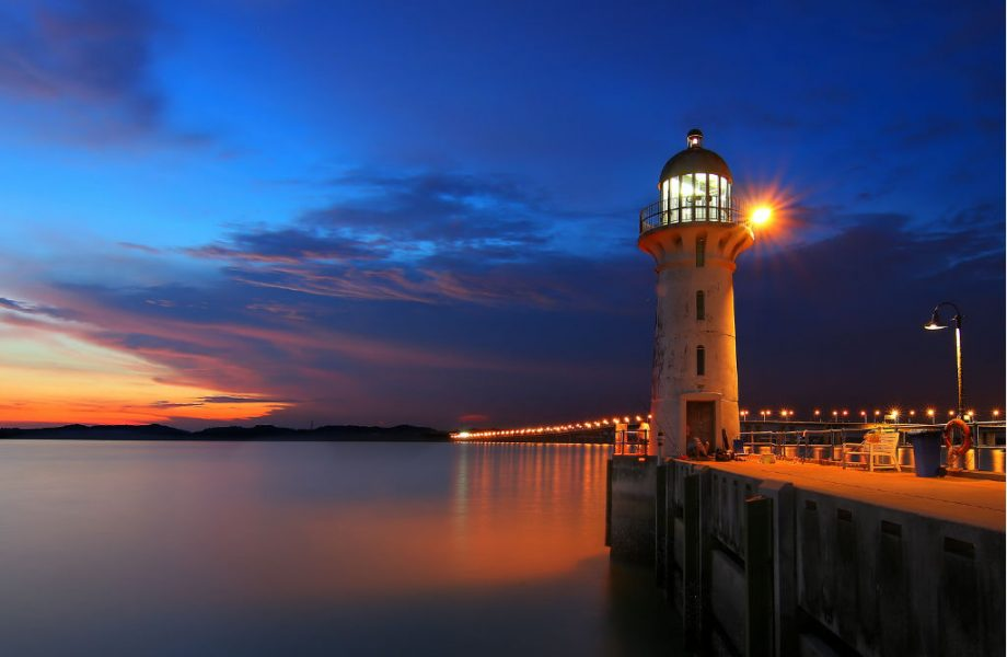 Raffles lighthouse in Singapore