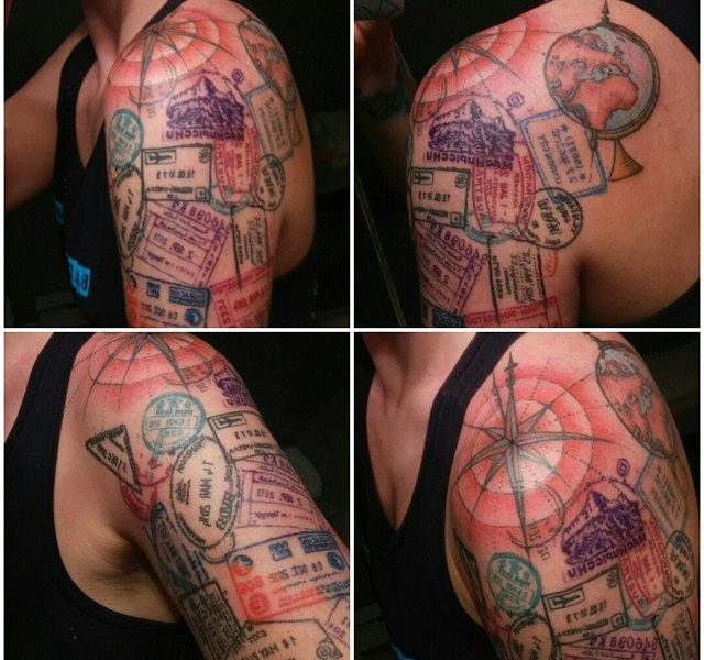 Country stamps tattoo