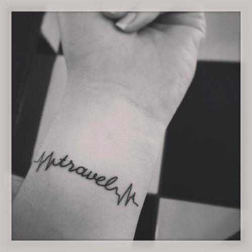 Travel pulse tattoo
