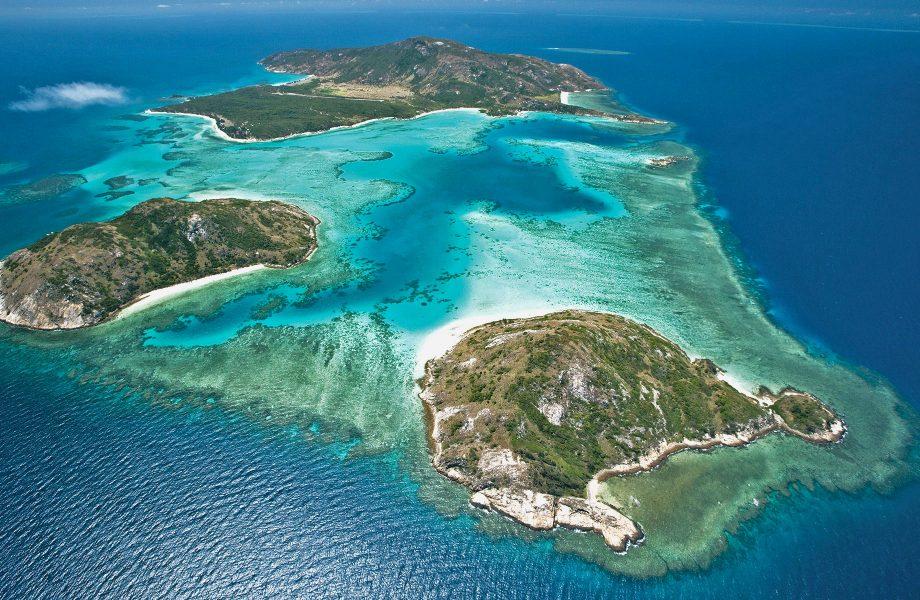 Aerial view of Lizard island