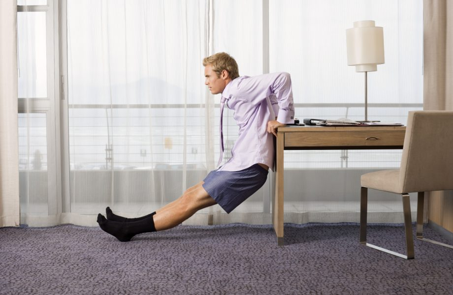 Exercising in a hotel room