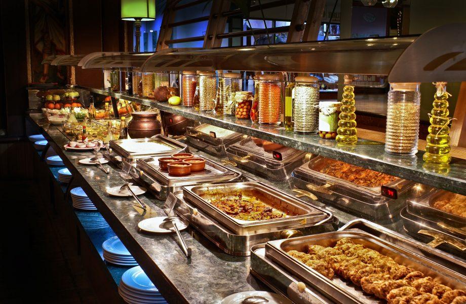 A buffet display