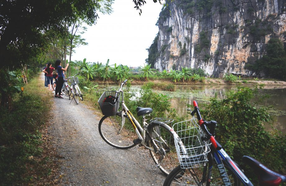 Cycling by Tam Coc