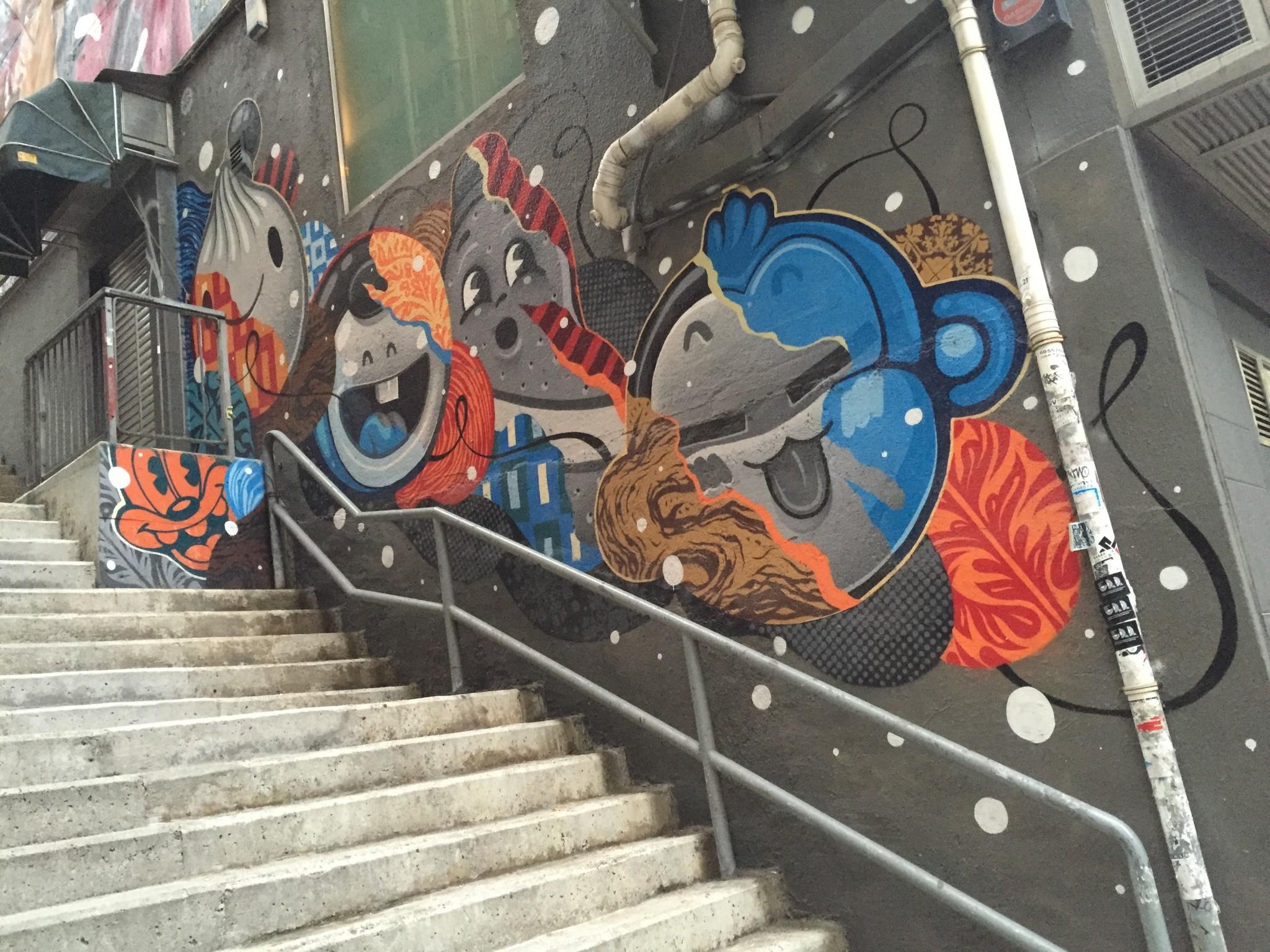 Tank lane stairway art