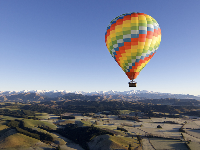 Flying over Canterbury valley