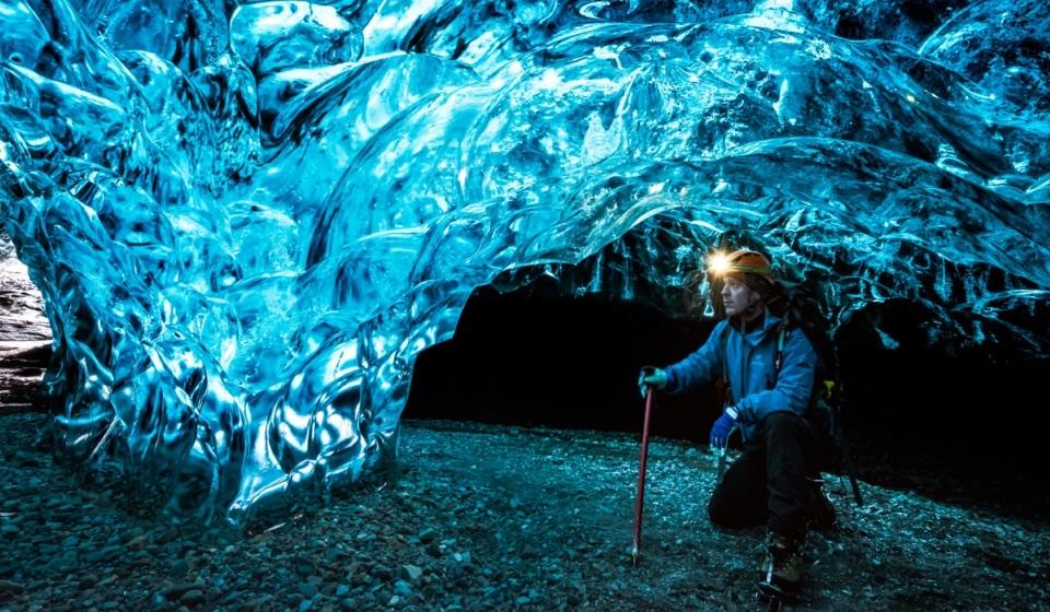 Ice hiking in Jokursarlon