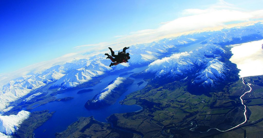 Lake Wanaka, New Zealand, Skydiving, Skydiving in New Zealand