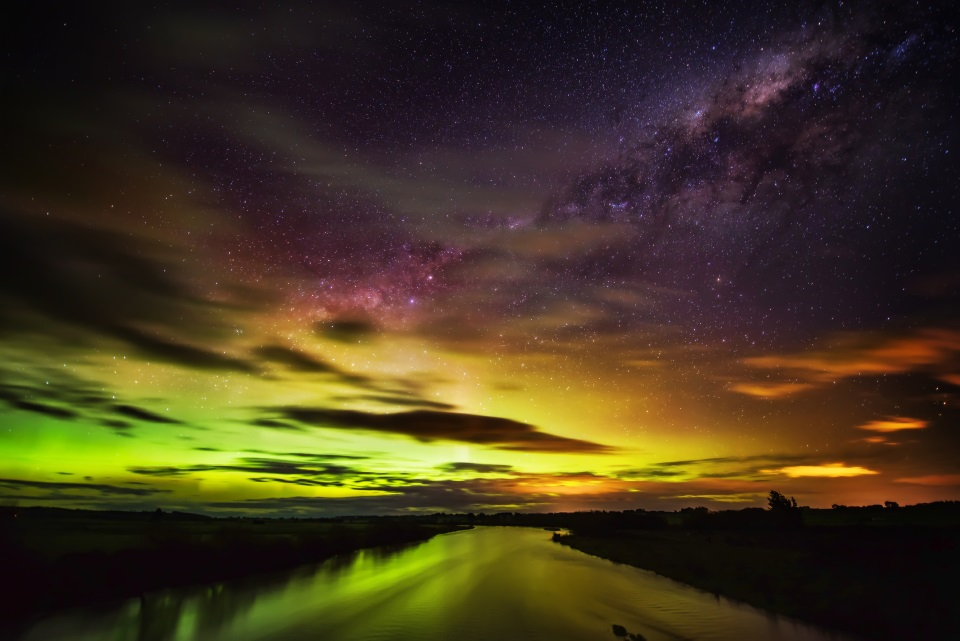 Southern Lights at Mt Cook National Park