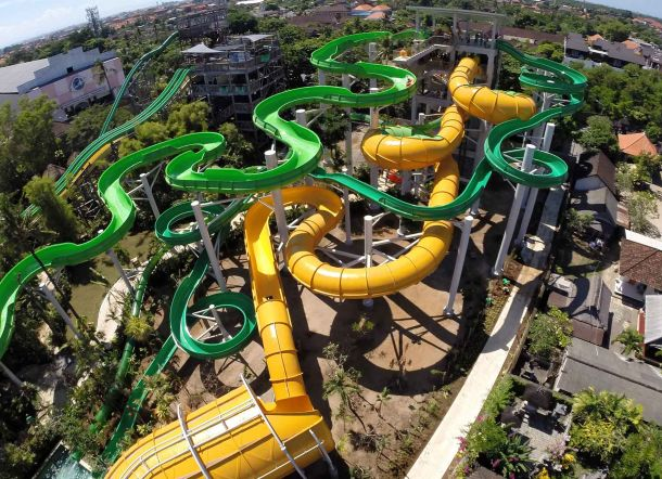 Waterbom Amusement Park - Bali Tourist Attractions