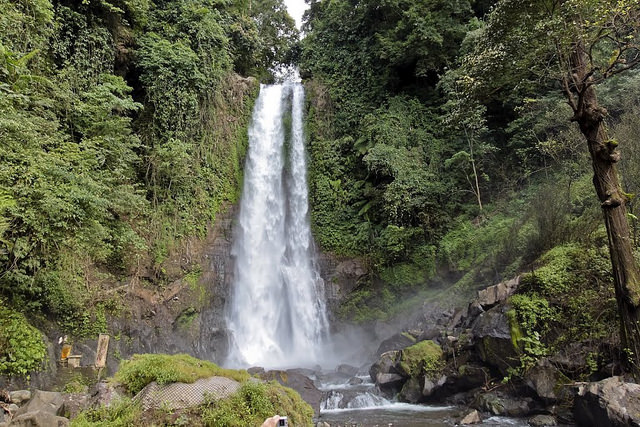 The Flying Water Waterfall - A Bali Tourist Attraction