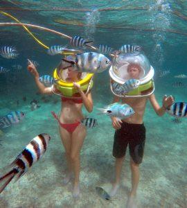 Seawalking in Mauritius