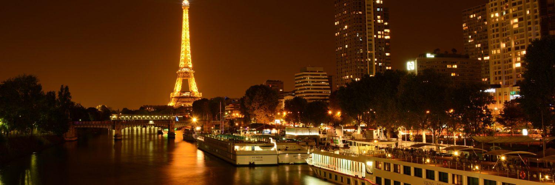 Eiffel tower in Paris during night