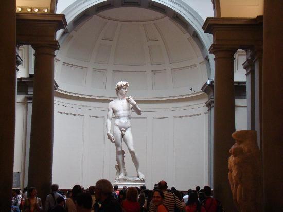 Michaelangelo's David at the Galleria dell'Accademia.