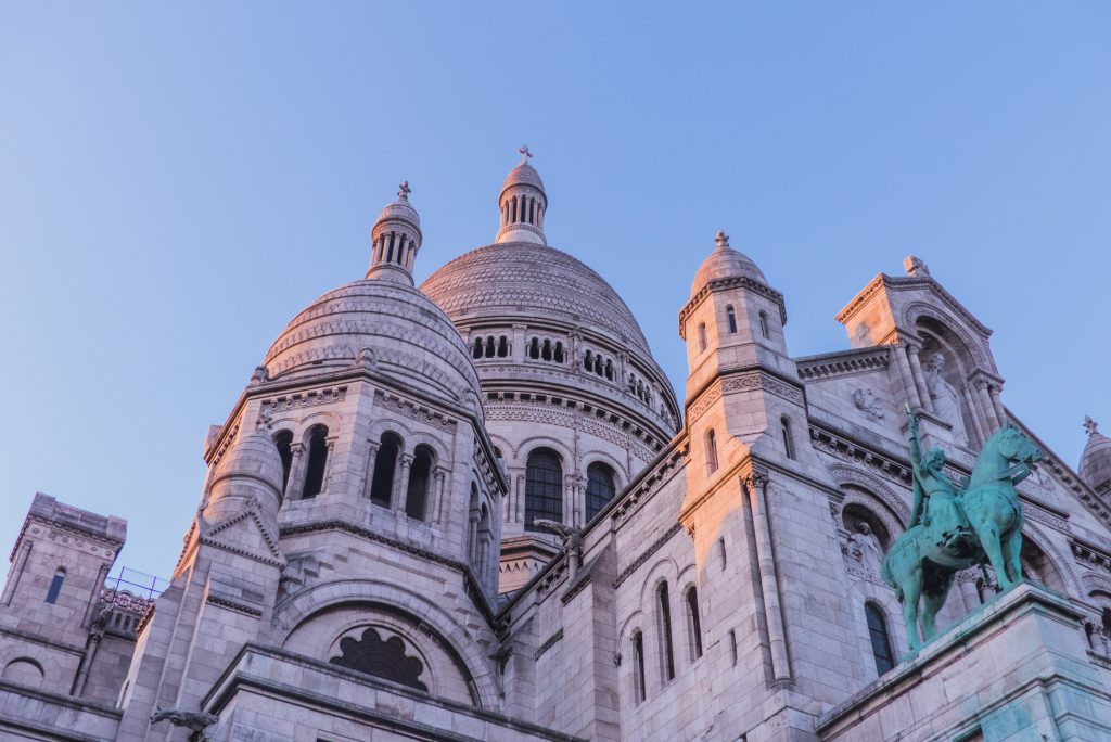 The Basilica of Sacre-Coeur in the Montmatre Village