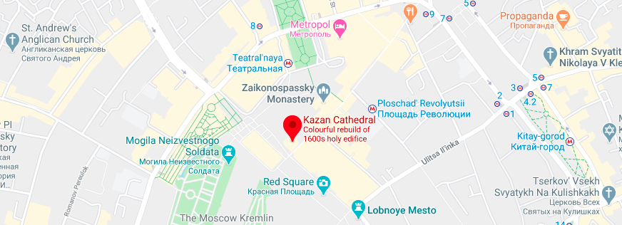 Location of the Kazhan Cathedral