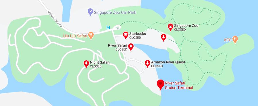 Map Location of the River Safari