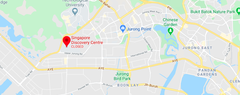 Location of Singapore Discovery Centre