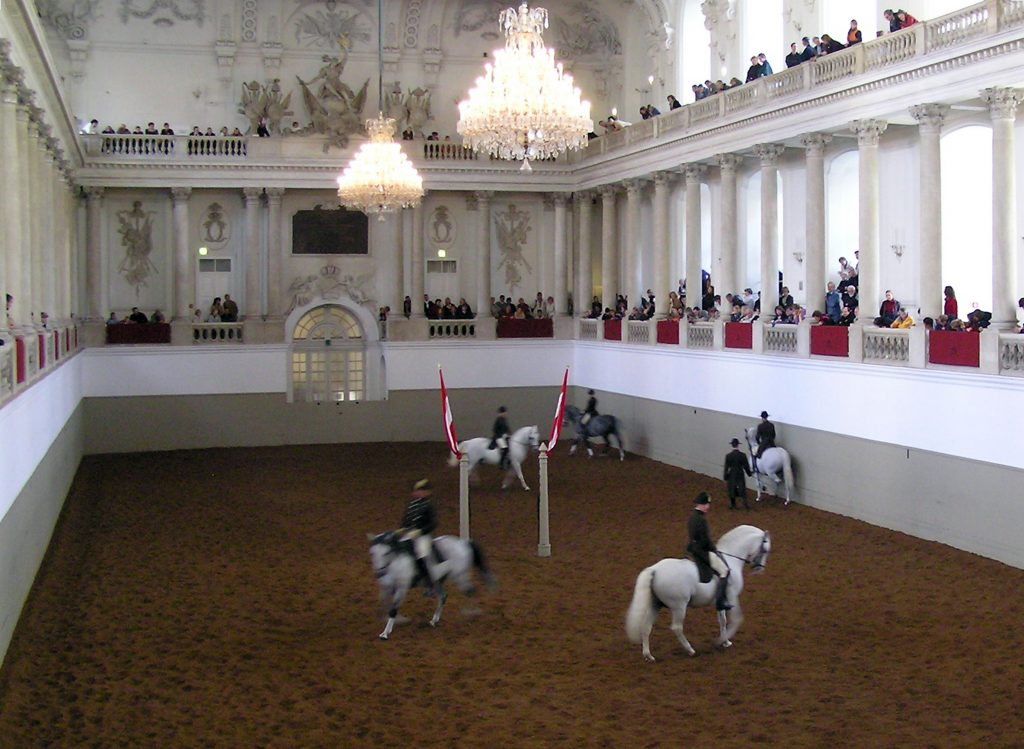 Spanish Riding school in the Hofburg Palace