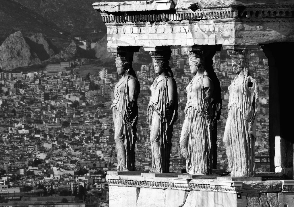Caryatids at Erechtheion temple
