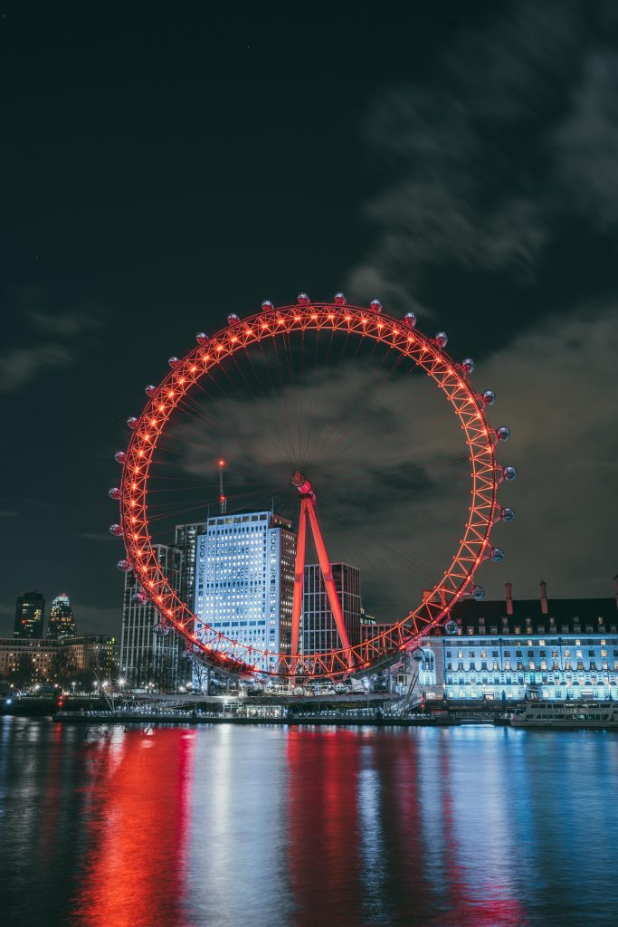 london eye in night