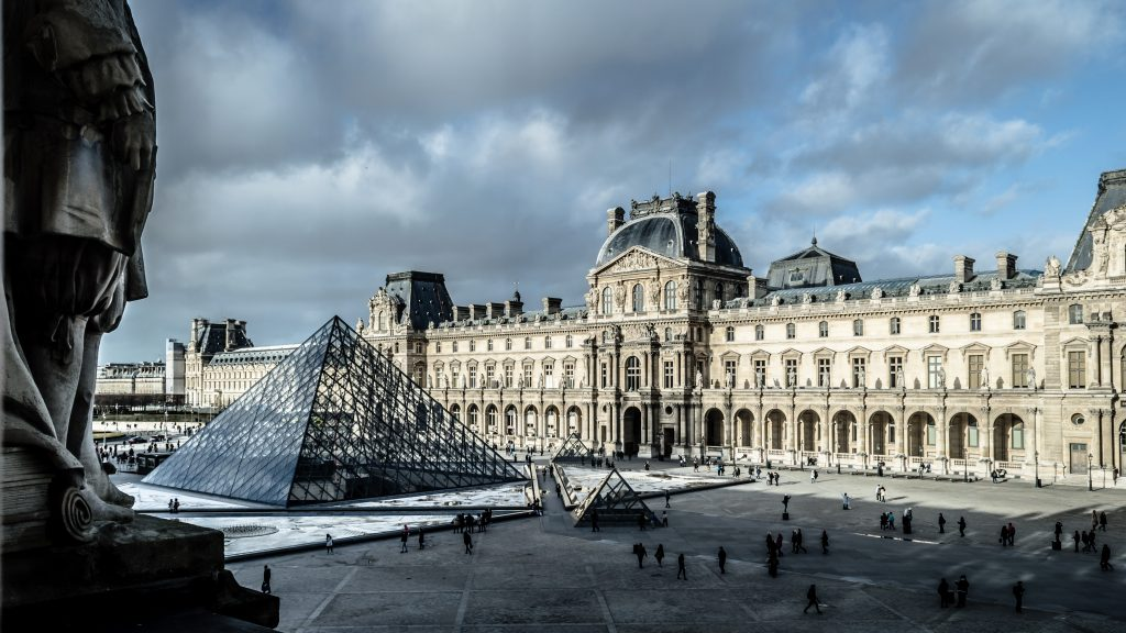 Louvre museum in Paris, one of the best places to visit in Europe