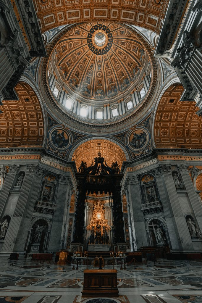 The inside view of the St. Peter Basilica