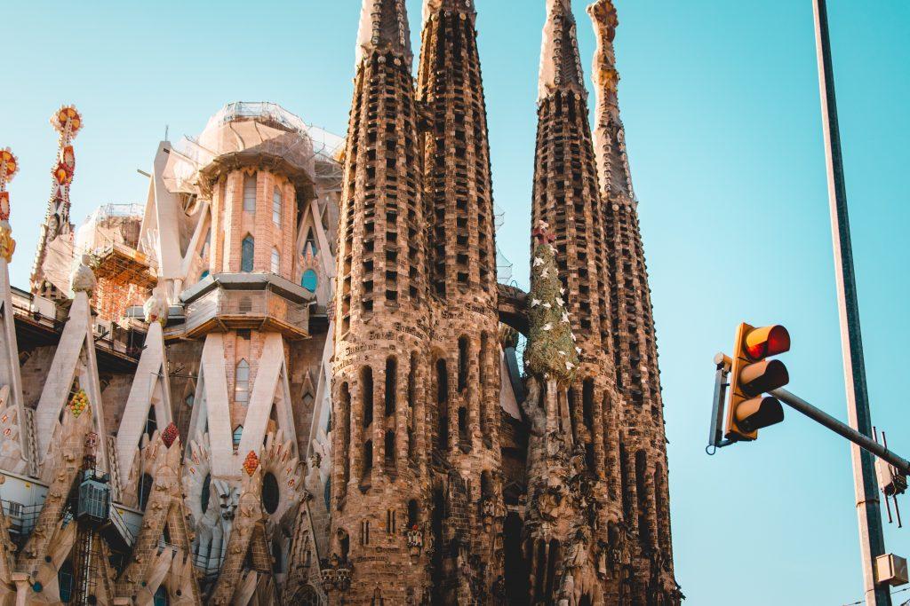 La Sagrada Familia Church in Barcelona, Europe