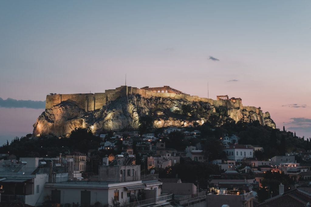 Acropolis of Athens, one of the best places to visit in Europe