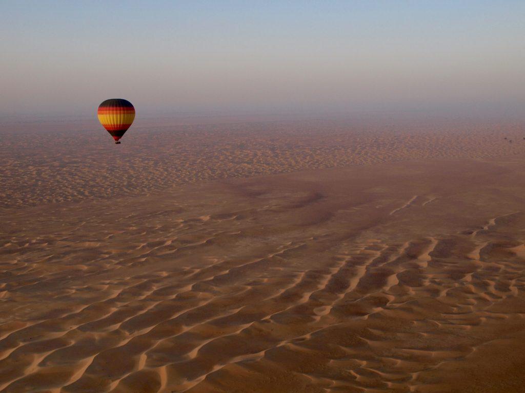 Hot air balloon in dubai.
