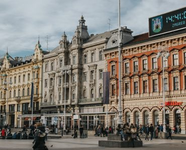 The main square in Zagreb