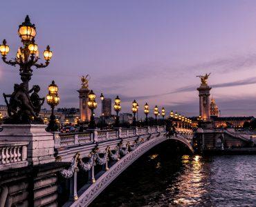 Parisian bridge in Paris