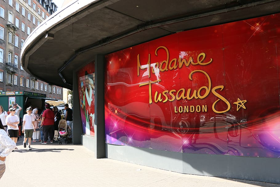 The outside of the Madame Tussauds In London