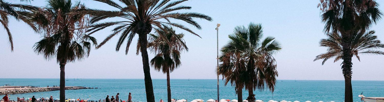 A bright afternoon in Barceloneta Beach