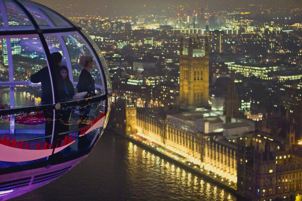 Capsules in london eye