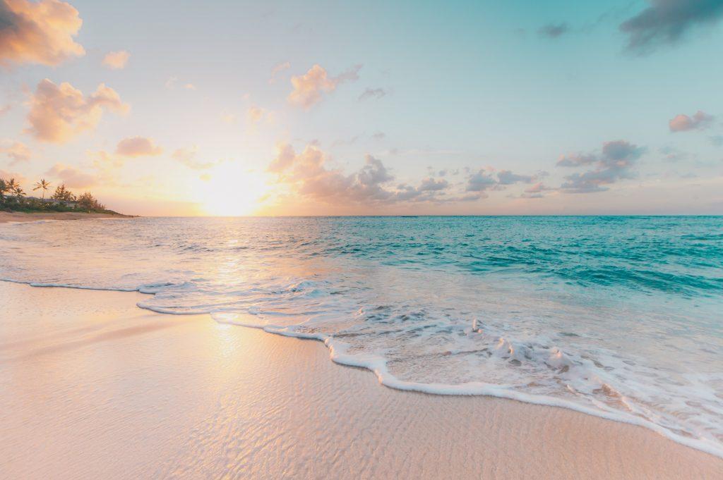 Stunning view of beach sunset