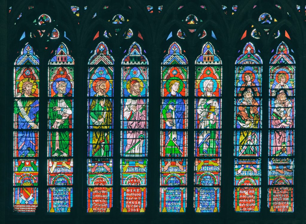 Stained windows at the Cathedral