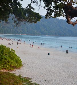 Radhanagar Beach In Andaman, India