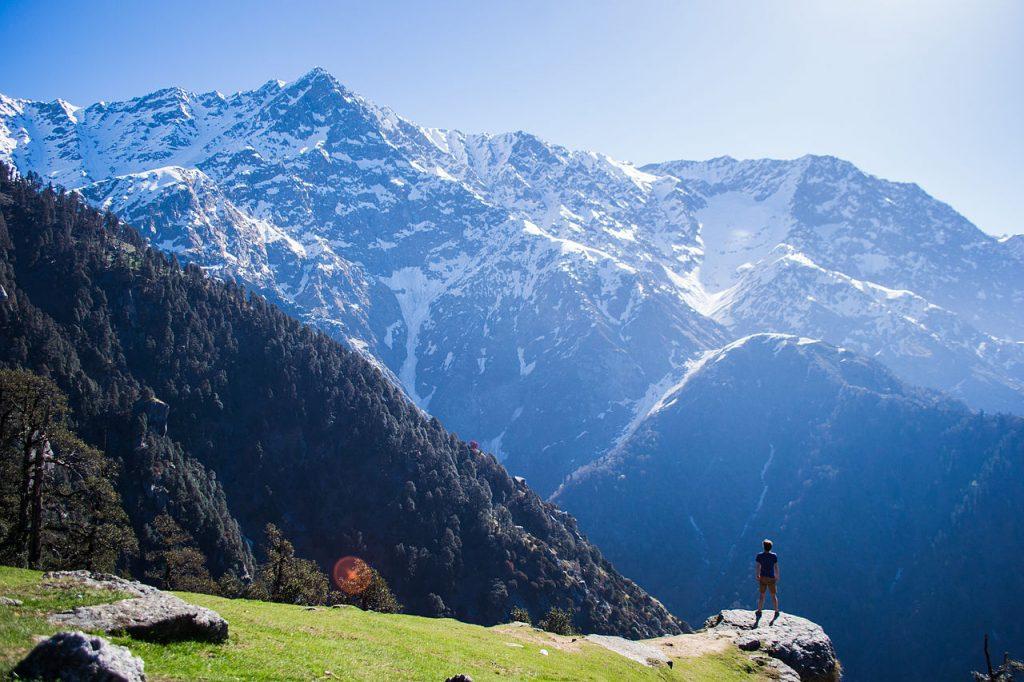 View from Dharamkot Village near Mc Leod Gunj