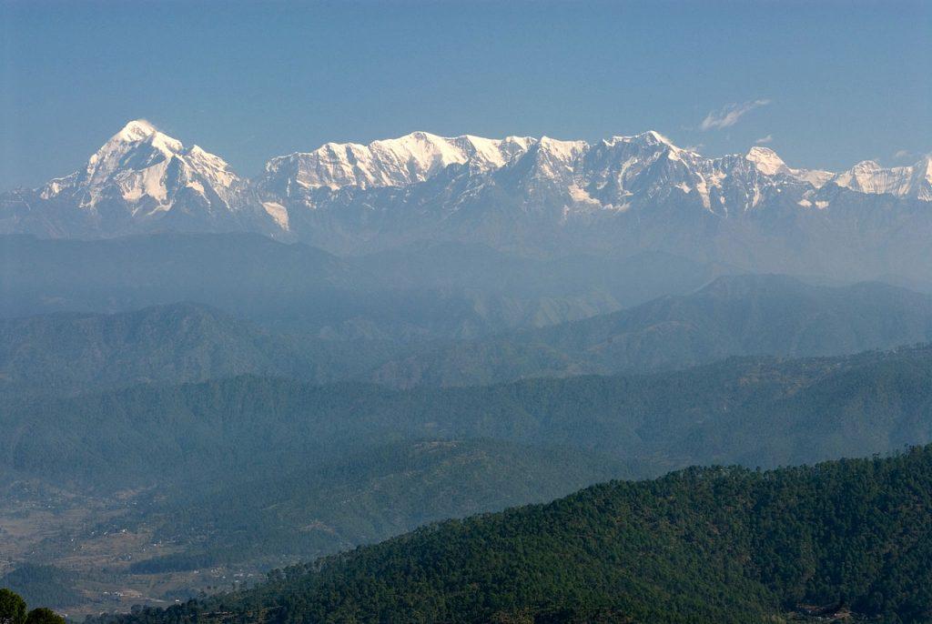 View of Trishul and Nanda Devi peaks from Kasauni