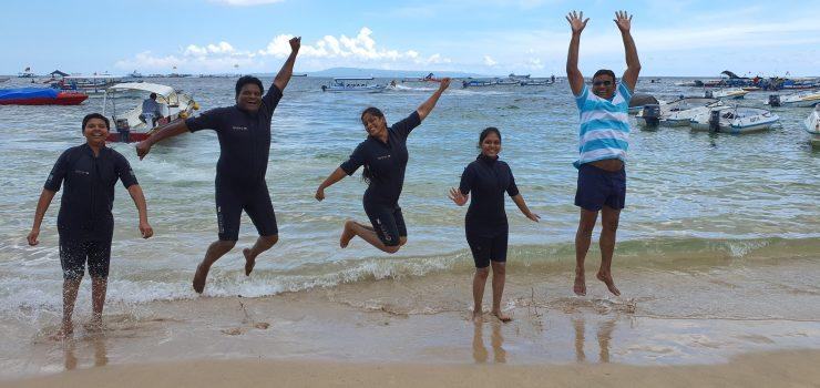 fun at Bali beach