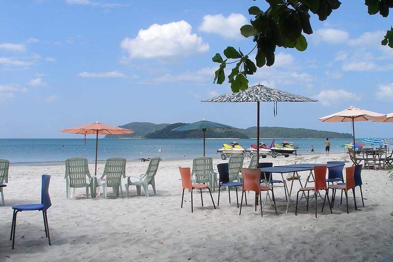 The view of Pantai Cenang Beach