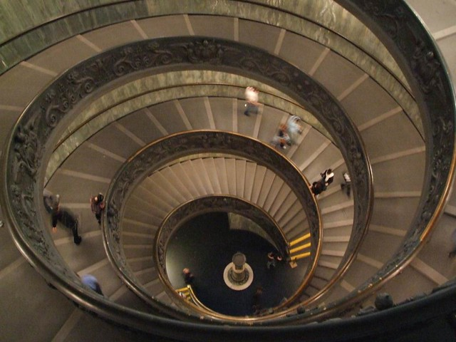 Spiral stairs at the  Vatican museum (Museums with Virtual tour)