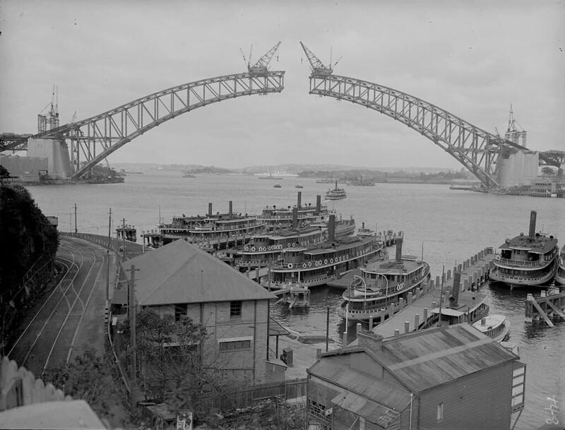 Construction of Harbour Bridge