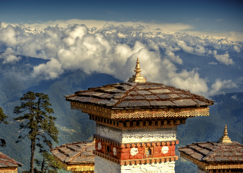 An amazing picture of Dochula pass in Bhutan