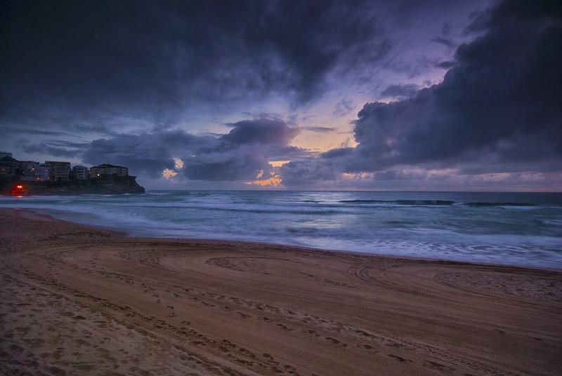 Sunrise at Manly beach